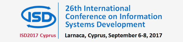 ISD2017 Cyprus - International Conference on Information Systems Development